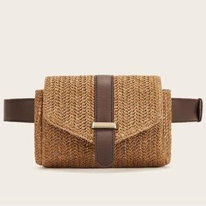 Handbags - NEW ARRIVAL! Straw Detail Fanny Pack